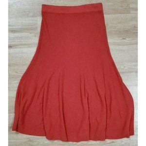 Peruvian Connection Womens Orange Maxi Skirt M